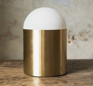 Capri Brass And Globe Table Lamp - lighting