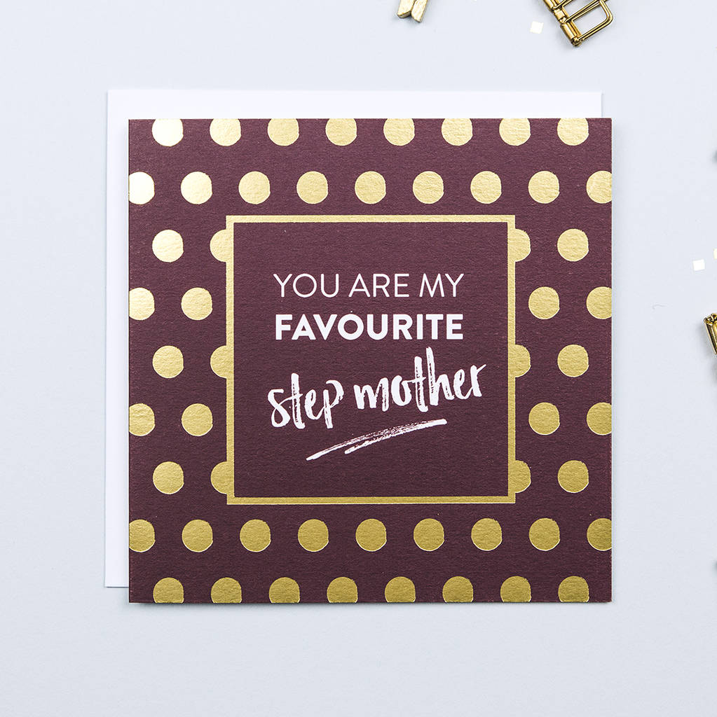 'Favourite Step Mother' Mother's Day Card