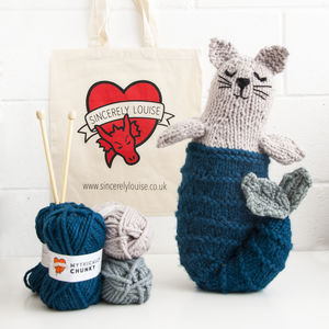 Make Your Own Mer Cat Knitting Kit - sewing & knitting
