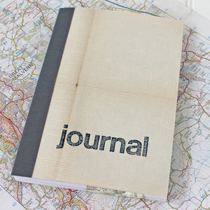 Linen Map Travel Journal - frequent traveller