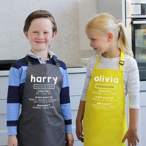 Personalised Child's Favourite Menu Apron