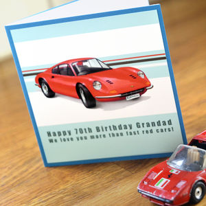 Ferrari Birthday Card