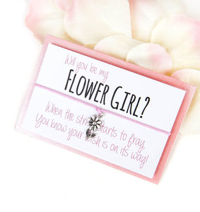 'Will You Be My Flower Girl' Handmade Wish Bracelet