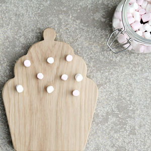 Cupcake Wooden Oak Chopping/Serving Board - kitchen