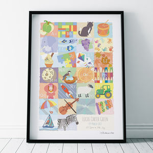 Alphabet Abc Personalised Print