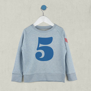 Age Five Sweatshirt Blue Or Pink - t-shirts & tops