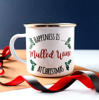 Happiness Is… Enamel Mug