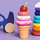 Wooden Ice Cream Stacking Toy