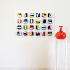 'Dolly Mixture' Abstract 3D Wood Block Art - canvas prints & art
