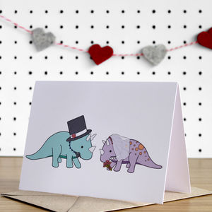 Dinosaur Wedding Card - shop by category