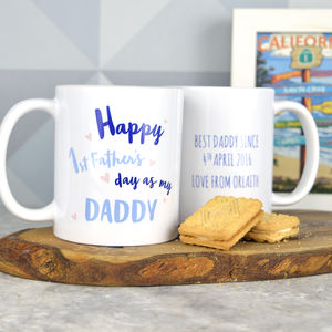 Personalised First Father's Day Daddy Mug - tableware