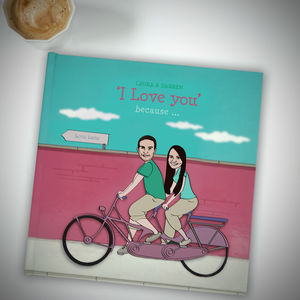 Personalised 'I Love You' Book - gifts for him
