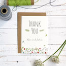 Wild Floral Thank You Card