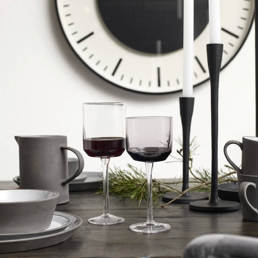 Nordal Retro Red Wine Glass