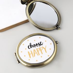 'Choose Happy' Compact Mirror