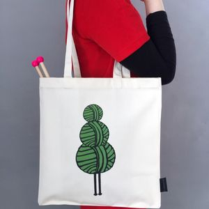 Christmas Tree Knitting Bag