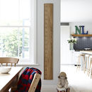 Personalised Wooden Ruler Height Chart 'Kids Rule'