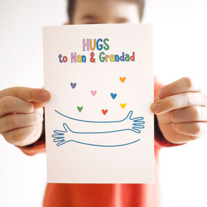 Virtual Hug Personalised Rainbow Charity Card
