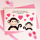'Little Monkey' Personalised First Mothers Day Card