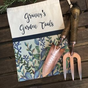 Copper Gardening Tools With Personalised Bag - mother's day gifts