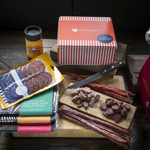 Connoisseur's Cured Meat Charcuterie Gift Box - gourmet snacks