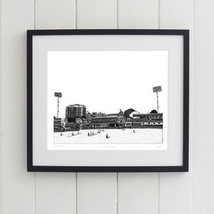 Lords Cricket Ground Screen Print - screen prints
