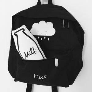 Personalised Children's Cloud Backpack - the monochrome edit