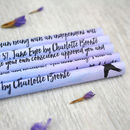 jane eyre quote pencils