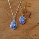 Forget-Me-Not Pendant Necklace
