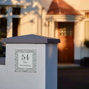 Personalised Anniversary Geo House Number Gift