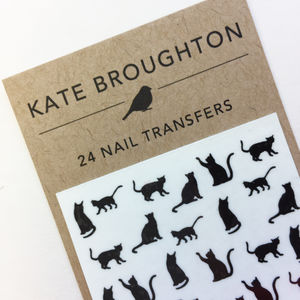 Cat Nail Art Transfers