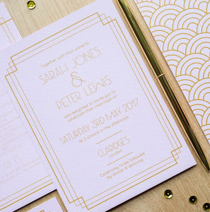 Art Deco 1920's Wedding Invitations
