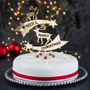 Personalised Reindeer Family Christmas Cake Topper
