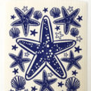 Navy blue starfish dishcloth