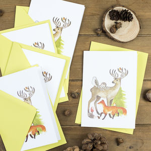 Woodland Creatures Christmas Card Pack - cards & wrap