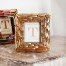Mini Gold Picture Frame Decoration Or Place Setting