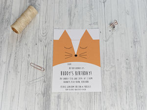 Cute Fox Party Invitation - invitations