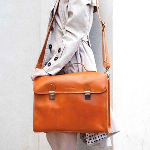 Leather Office Bag 'Waring' - bags & cases