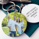 Grandad's Personalised Photo Message Keyring