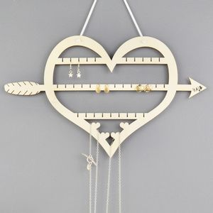 Heart Jewellery And Earring Hanger And Display - hooks, hangers & stands