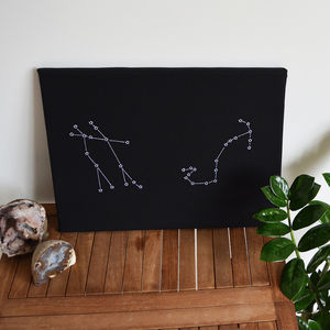 Personalised Star Sign Notice Board