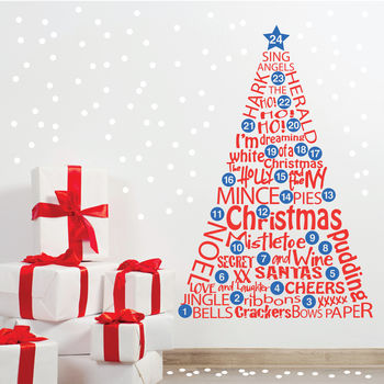 Countdown To Christmas Advent Wall Sticker