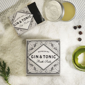 Gin And Tonic Bath Salts And Lip Balm - gift sets