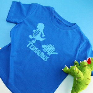 Personalised Childrens Dinosaur T Shirt