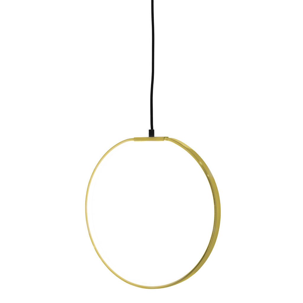 Led Ceiling Lights Gold: Gold Round Led Ceiling Light Modern Chandelier By Made