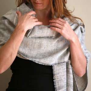 Handwoven Silk And Cotton Shawl