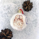 Tawny Owl Fine Bone China Bauble