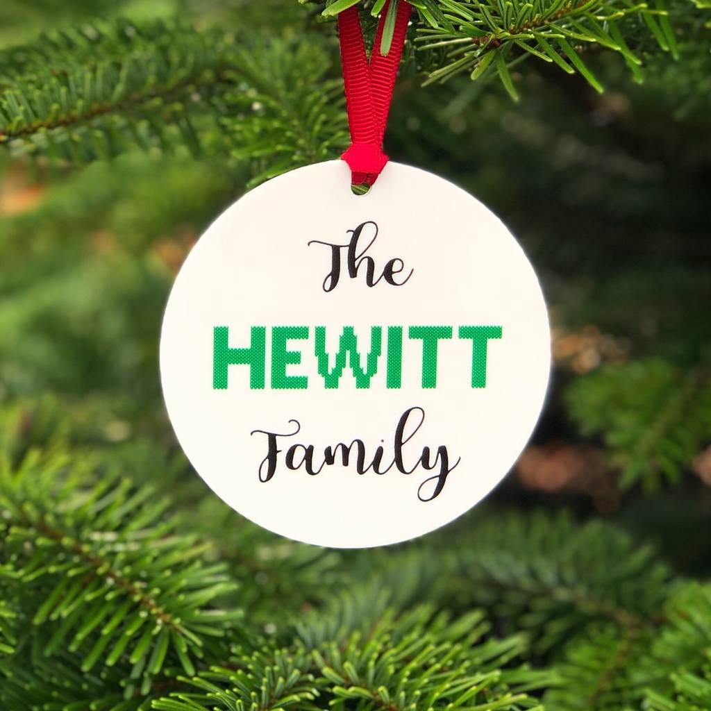 Personalised 9cm Christmas Tree Name Baubles Silver Gold