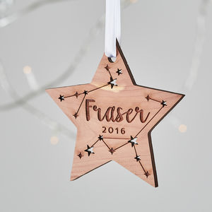 Star Personalised Christmas Decoration