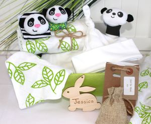 Panda And Bamboo Mother And Baby Gift Hamper - personalised